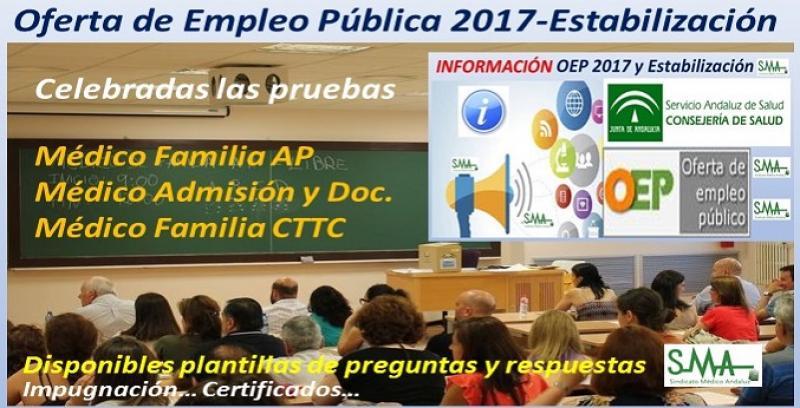 Celebrados ayer domingo 17 de noviembre los exámenes de la OEP de Estabilización para Médico de Familia de AP, Médico de Admisión  y Médico de Familia en CTTC.