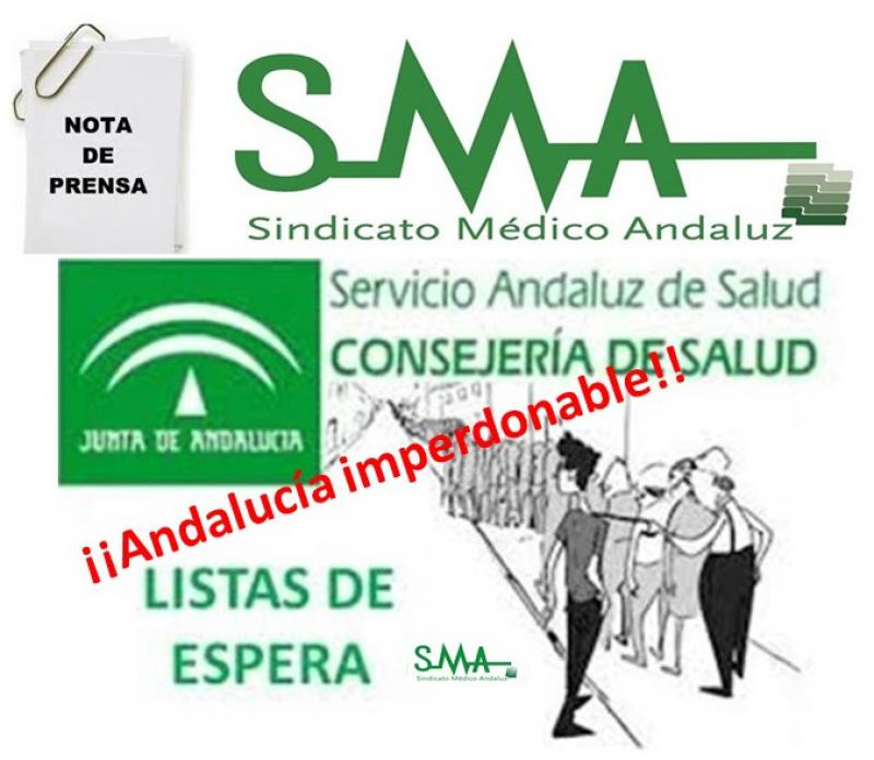 Nota de Prensa del SMA sobre listas de espera en el SAS.
