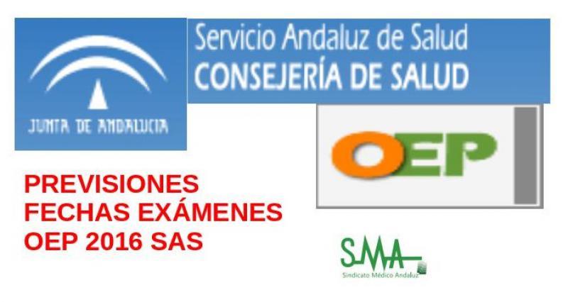 Previsión de la fecha de los exámenes de la OEP 2016 del SAS