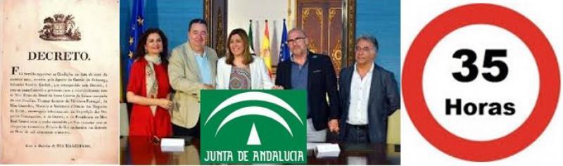 Las trampas de la promesa de devolución de las 35 horas a los empleados públicos en Andalucía
