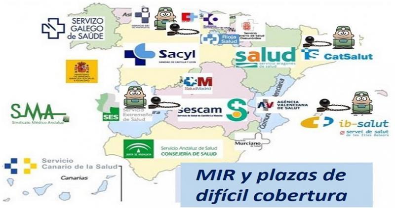 Cuatro CCAA quieren obligar al MIR a optar por plazas de difícil cobertura.