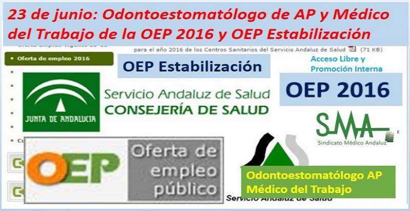 Mañana 23 de junio se inicia la OEP de estabilización con las pruebas para Odontoestomatólogo de AP y Médico del Trabajo.