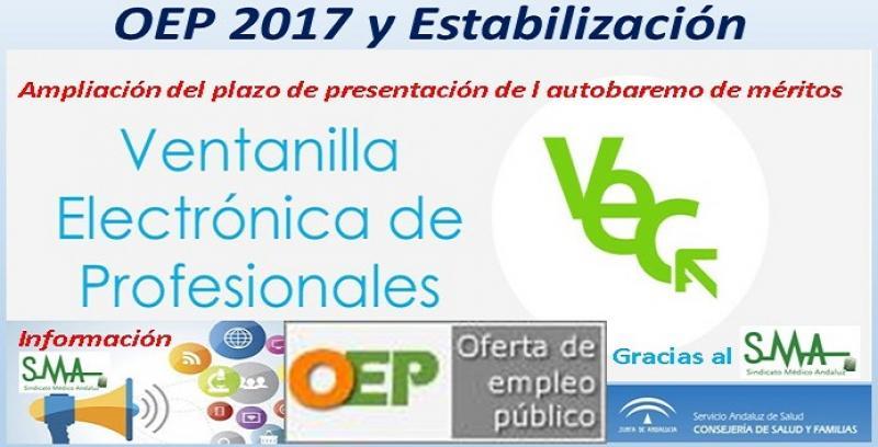 OEP 2017 y Estabilización. Ampliación del plazo de presentación del Autobaremo de méritos para diferentes especialidades de FEA.