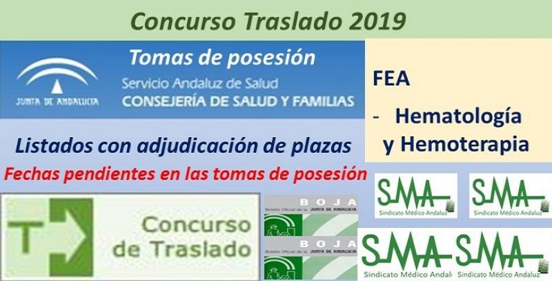 Concurso de Traslados 2019. Publicado en el Boja la resolución definitiva de FEA de Hematología y Hemoterapia.