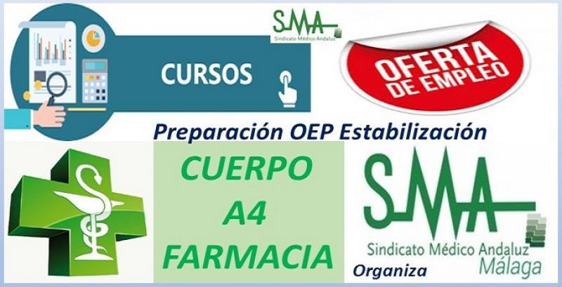 Curso de preparación para la OEP de Estabilización del Cuerpo A4, especialidad Farmacia.