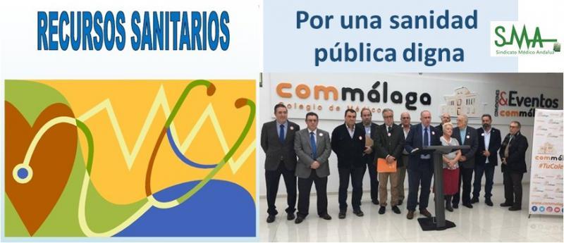 Málaga: Sin recursos no hay sanidad pública.