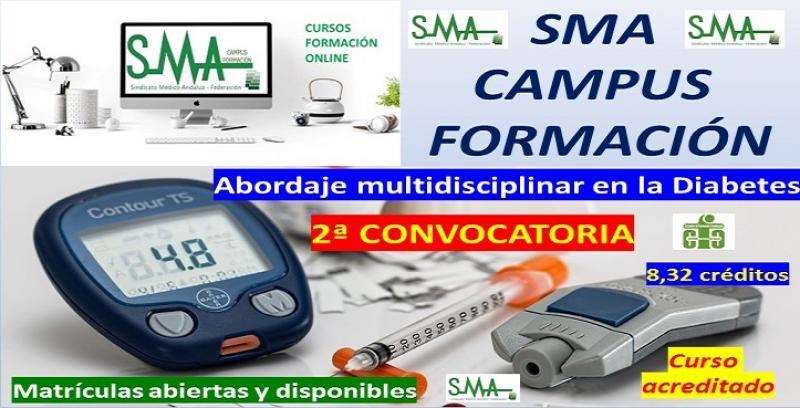 Segunda convocatoria del curso de formación acreditado: abordaje multidisciplinar en la diabetes.