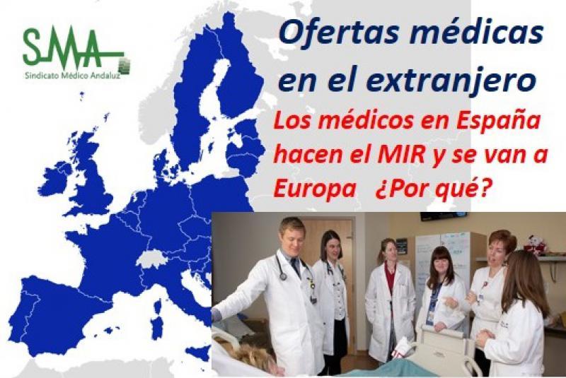 Las ofertas médicas para el extranjero doblan el sueldo de los puestos en España.