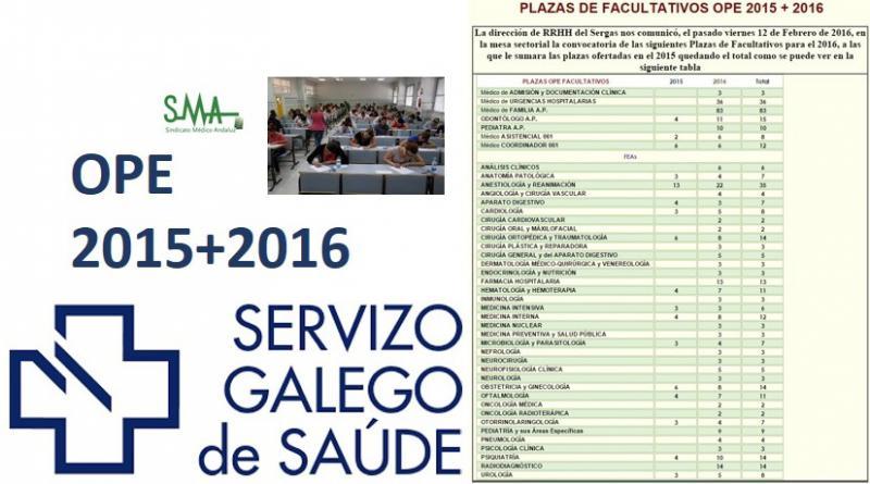 Aprobadas 401 plazas para las OPE de Galicia de 2015 y 2016