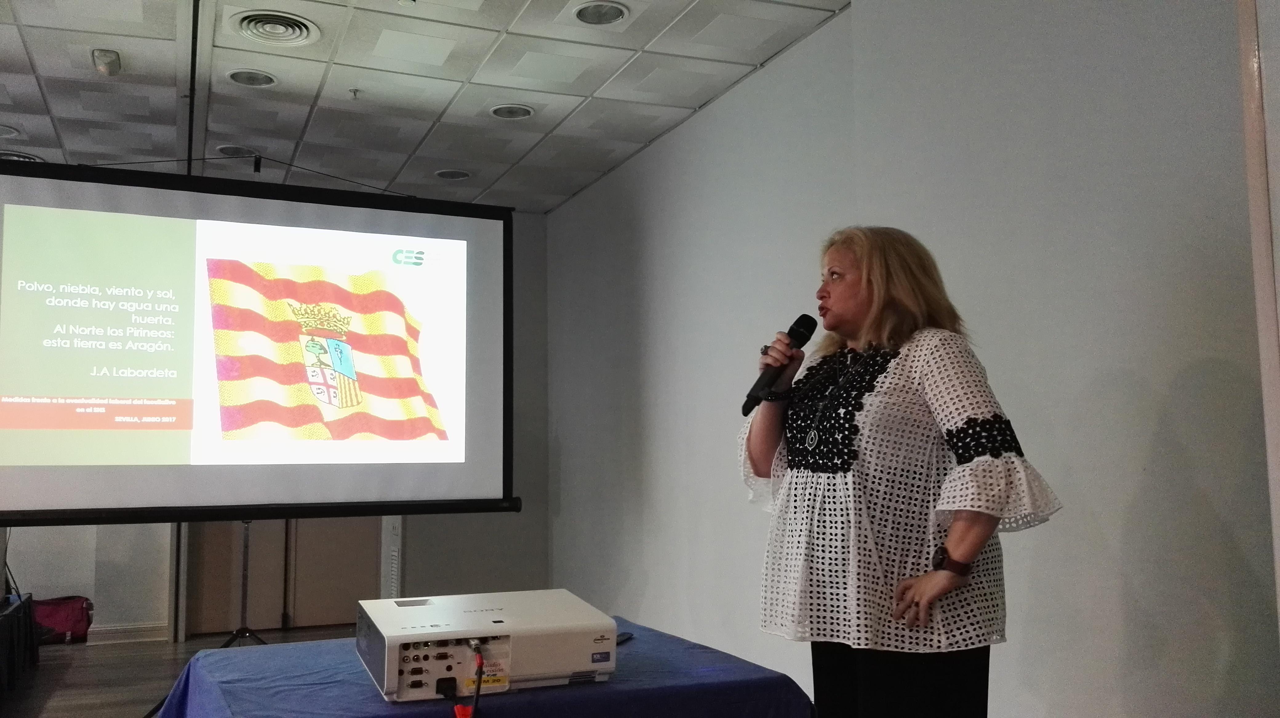 Mercedes Ortín, vicesecretaria de CESM Aragón