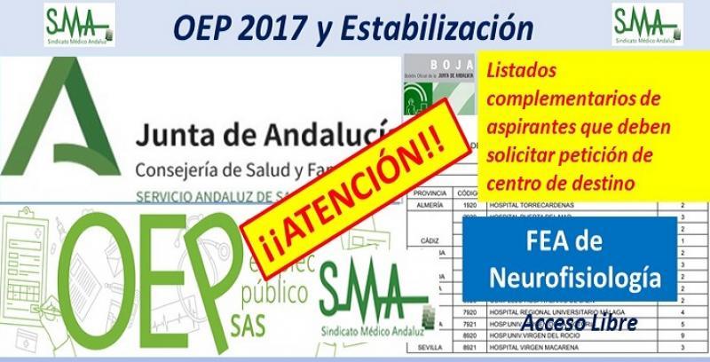 Para nuevos nombramientos de la OEP 2017-Estabilización de las plazas no cubiertas de FEA Neurofisiología Clínica.