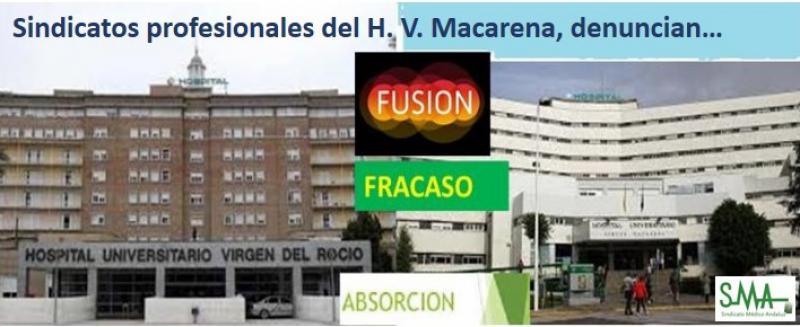 Los sindicatos profesionales sanitarios denuncian el desmantelamiento soterrado y continuo de los servicios asistenciales del Macarena.