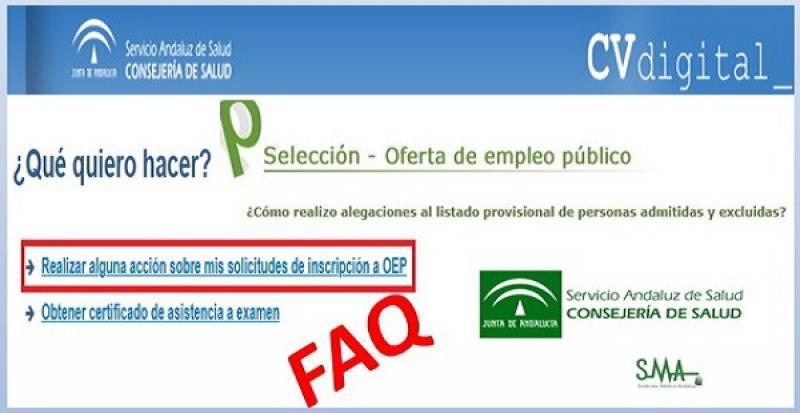 Preguntas y Respuestas sobre alegaciones al listado provisional de personas admitidas/excluidas en las OEP.
