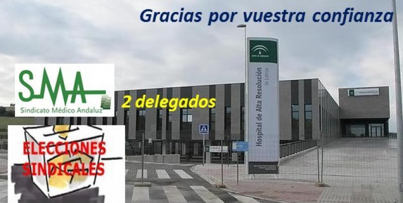 Elecciones sindicales en el HARE de Lebrija. Nuevo éxito del SMA.