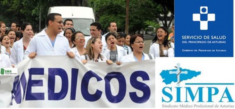 """Los médicos asturianos irán a la huelga ante """"incumplimientos"""" del Gobierno regional."""