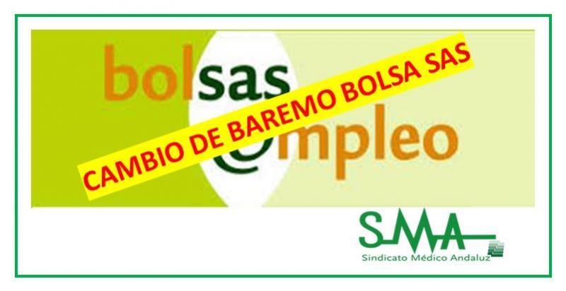 Publicada en el BOJA la resolución con el cambio de baremo de Bolsa Única del SAS.