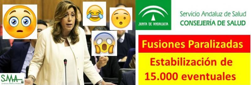 La presidenta de la Junta de Andalucía anuncia la estabilización de 15000  eventuales en el SAS.