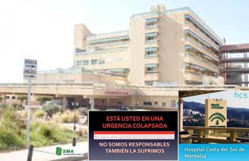 Los médicos de urgencias del H. Costa del Sol reclaman un refuerzo de la plantilla