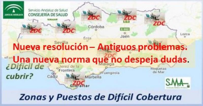 Nuevo mapa de plazas de difícil cobertura de Familia de Andalucía.