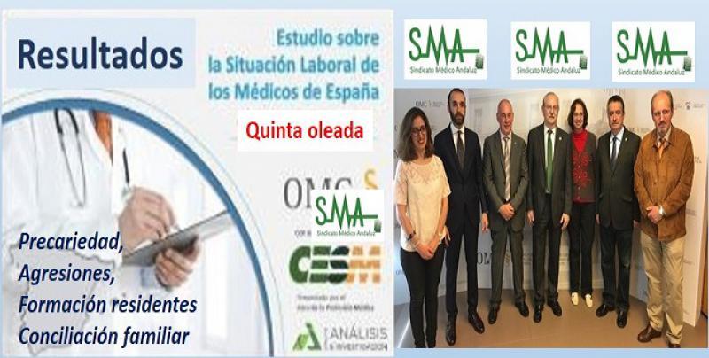 Resultados de la encuesta. Los médicos en España: la mitad sin plaza fija y el 65% víctima de agresión.