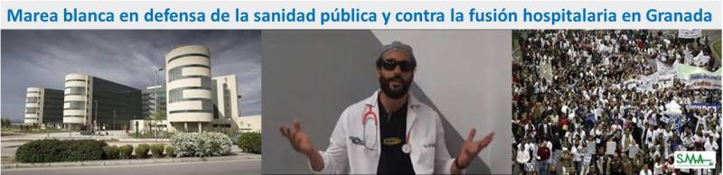 Una iniciativa en las redes sociales convoca una 'marea blanca' contra la fusión hospitalaria de Granada.