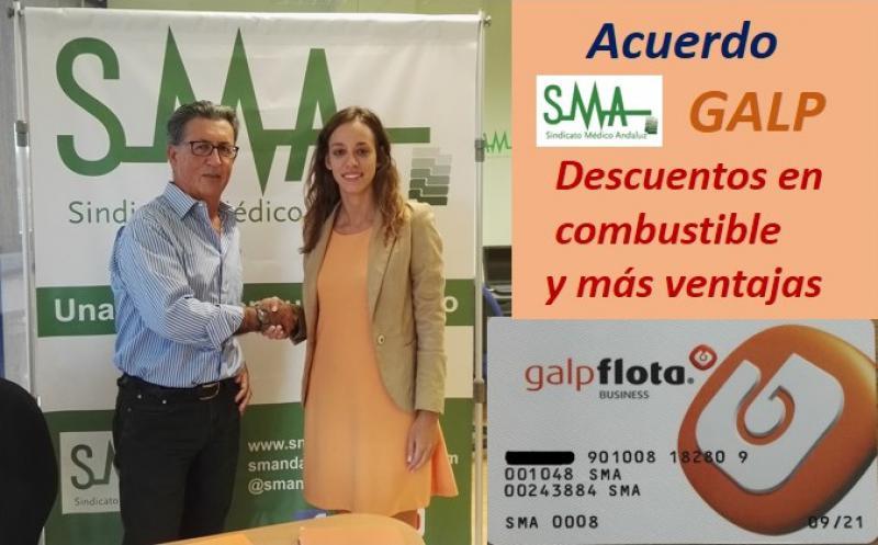 El Sindicato Médico Andaluz firma un acuerdo con GALP Energía.