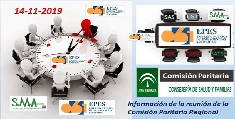 Informe Comisión Paritaria Regional de EPES-061. 14-11-2019