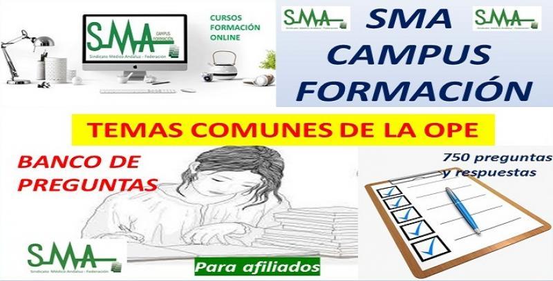 """Nuevo proyecto SMA CAMPUS FORMACIÓN: """"BANCO DE PREGUNTAS SMA"""" sobre temas comunes."""