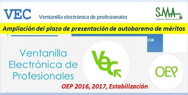 Ampliación del plazo de presentación del Autobaremo de méritos para las personas que han superado la fase oposición de determinadas categorías (OEP 2016, 2017 y Estabilización)