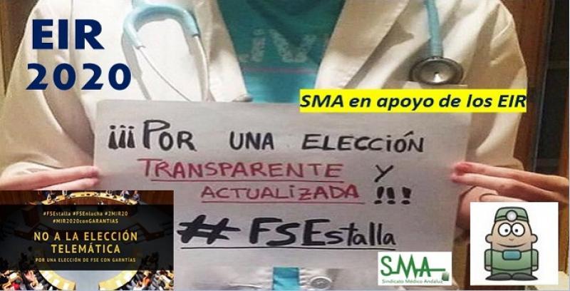Los futuros residentes reclaman una alternativa a la elección telemática. SMA apoya sus reivindicaciones.