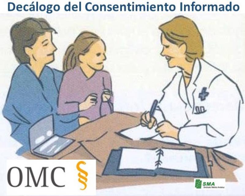 """La OMC elabora un Decálogo del Consentimiento Informado ante las """"deficiencias"""" observadas."""