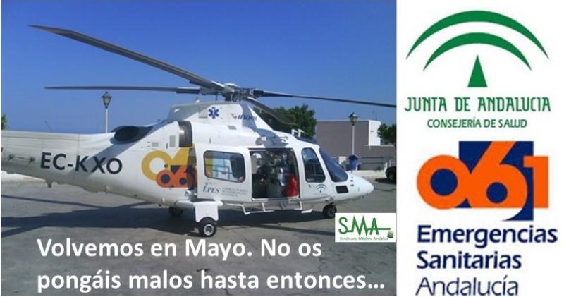 El SAS prescinde del helicóptero del 061 hasta el próximo mayo.