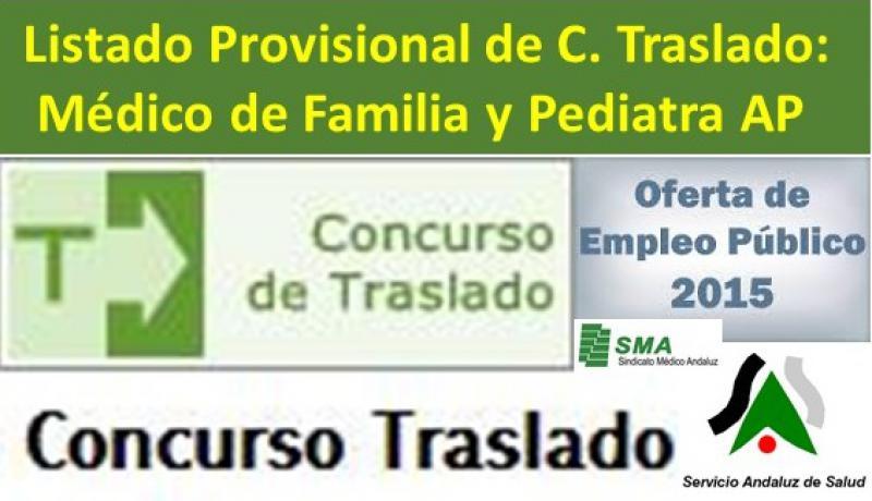 Publicadas las listas provisionales de admitidos y excluidos del Concurso de Traslado para Médico de Familia y Pediatra de A.P.
