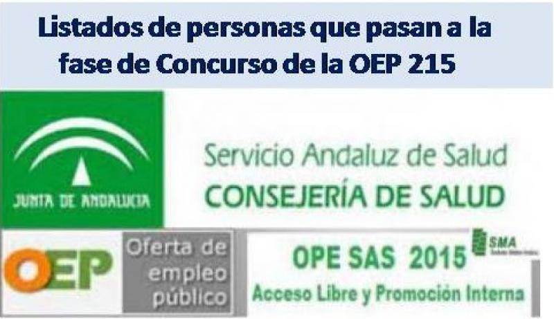 Disponibles las Resoluciones y los listados con las personas que pasan a la fase de concurso de la Oferta de Empleo Público del SAS.