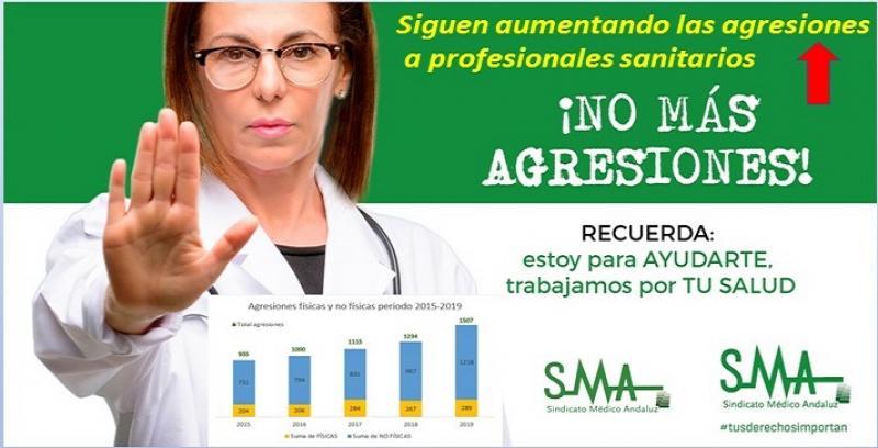 Las agresiones a personal sanitario en Andalucía siguen subiendo en 2019.