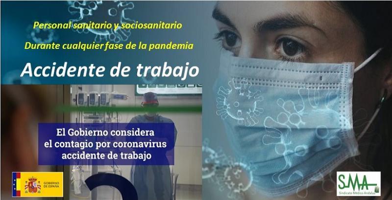 La Covid-19 será de oficio accidente de trabajo para personal sanitario y sociosanitario.