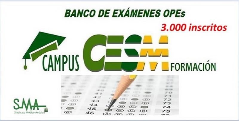 El banco de exámenes de CampusCESM registra ya casi 3.000 inscritos.