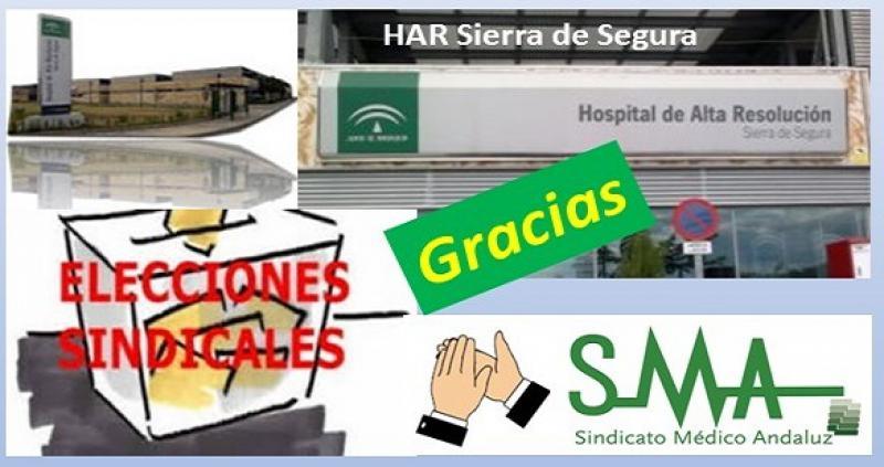 Elecciones en el Hospital de Alta Resolución Sierra de Segura.