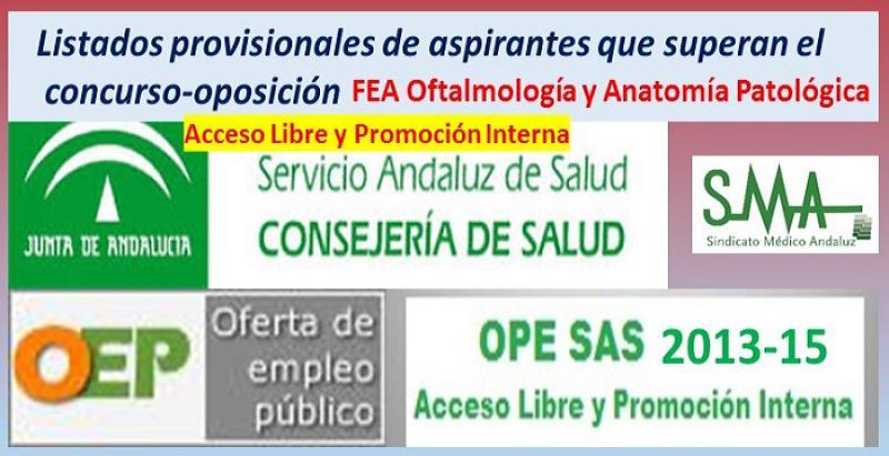 OPE 2013-15. Listados provisionales de personas aspirantes que han ...