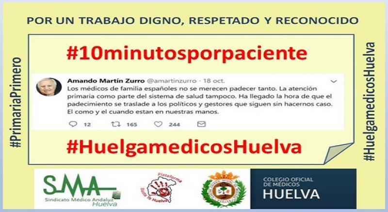 Huelva vive este lunes su primer paro de médicos en atención primaria.
