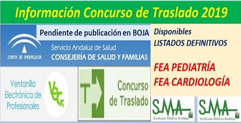 Publicadas en la web del SAS, propuestas de listados definitivos de los Concursos de Traslados de FEA Pediatría y Cardiología.