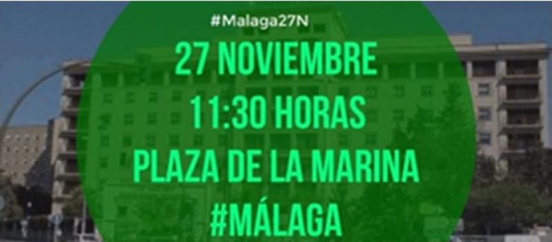 Convocan una marcha por la mejora de la sanidad en Málaga. Las protestas corren como la pólvora.