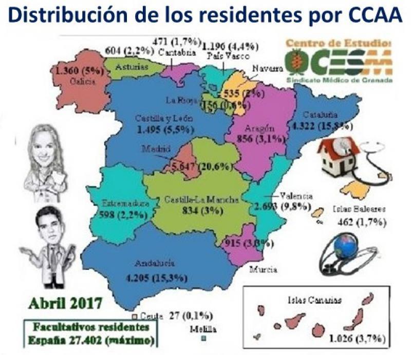 CESM alerta del descenso reiterado del número de residentes.