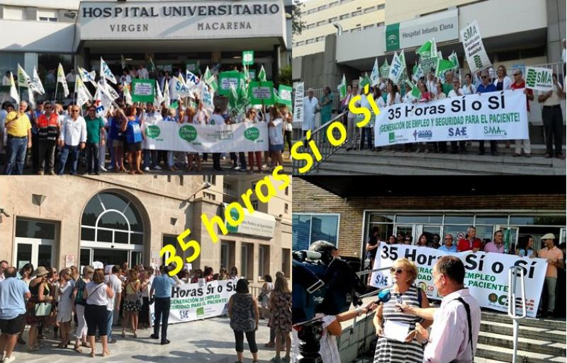 Los sindicatos sanitarios se movilizan en defensa de la jornada laboral de 35 horas.