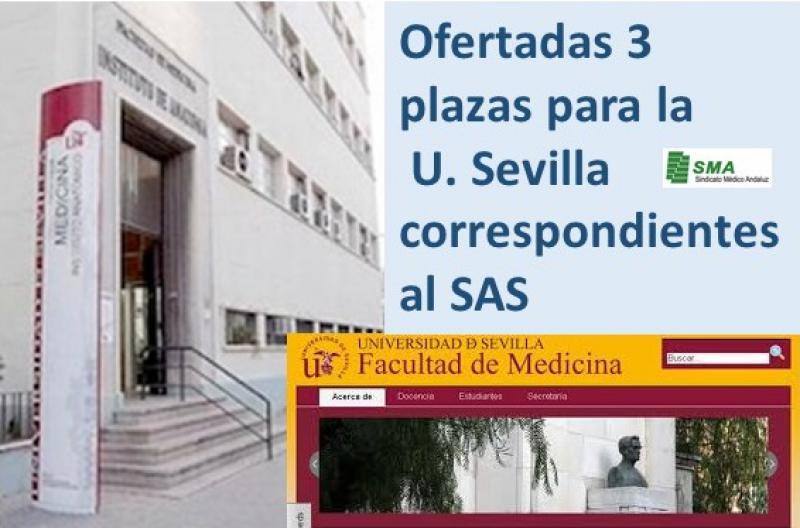 Publicadas ofertas de empleo para la Universidad Hispalense de tres plazas correspondientes al SAS