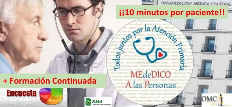 Atención Primaria reclama más horas para formación continuada. Y 10 minutos por paciente!!