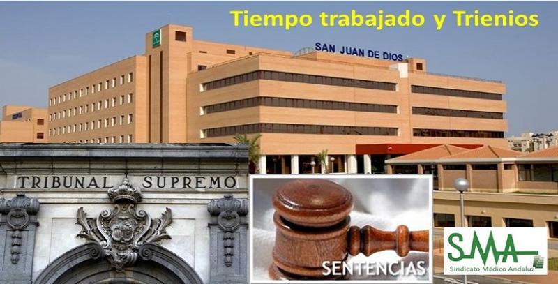 Sentencia: trabajar en un consorcio sanitario público como el Hospital de San Juan de Dios, computa para los trienios.