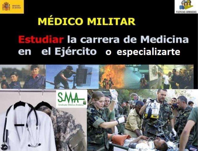 El Ministerio de Defensa convoca plazas para especialización en el Cuerpo Militar de Sanidad y para incorporación como militar de carrera sin exigencia de titulación universitaria previa.