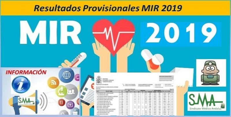 El Ministerio de Sanidad publica los resultados provisionales del MIR 2019.