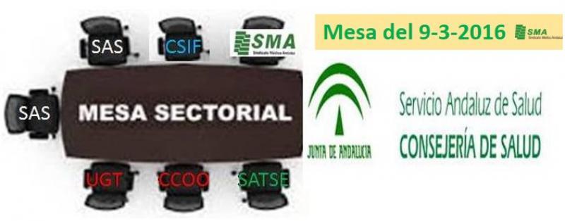 Mesa Sectorial 9-3-2016: Listas provisionales de Traslados a partir de la semana próxima. Aprobados los días adicionales por asuntos particulares.